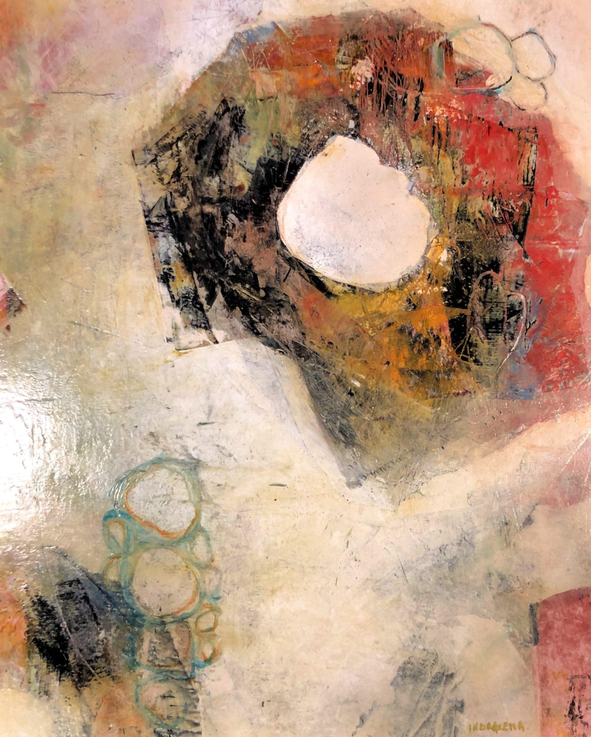Hallucinations I 40 x 50 Cold Wax & Oil