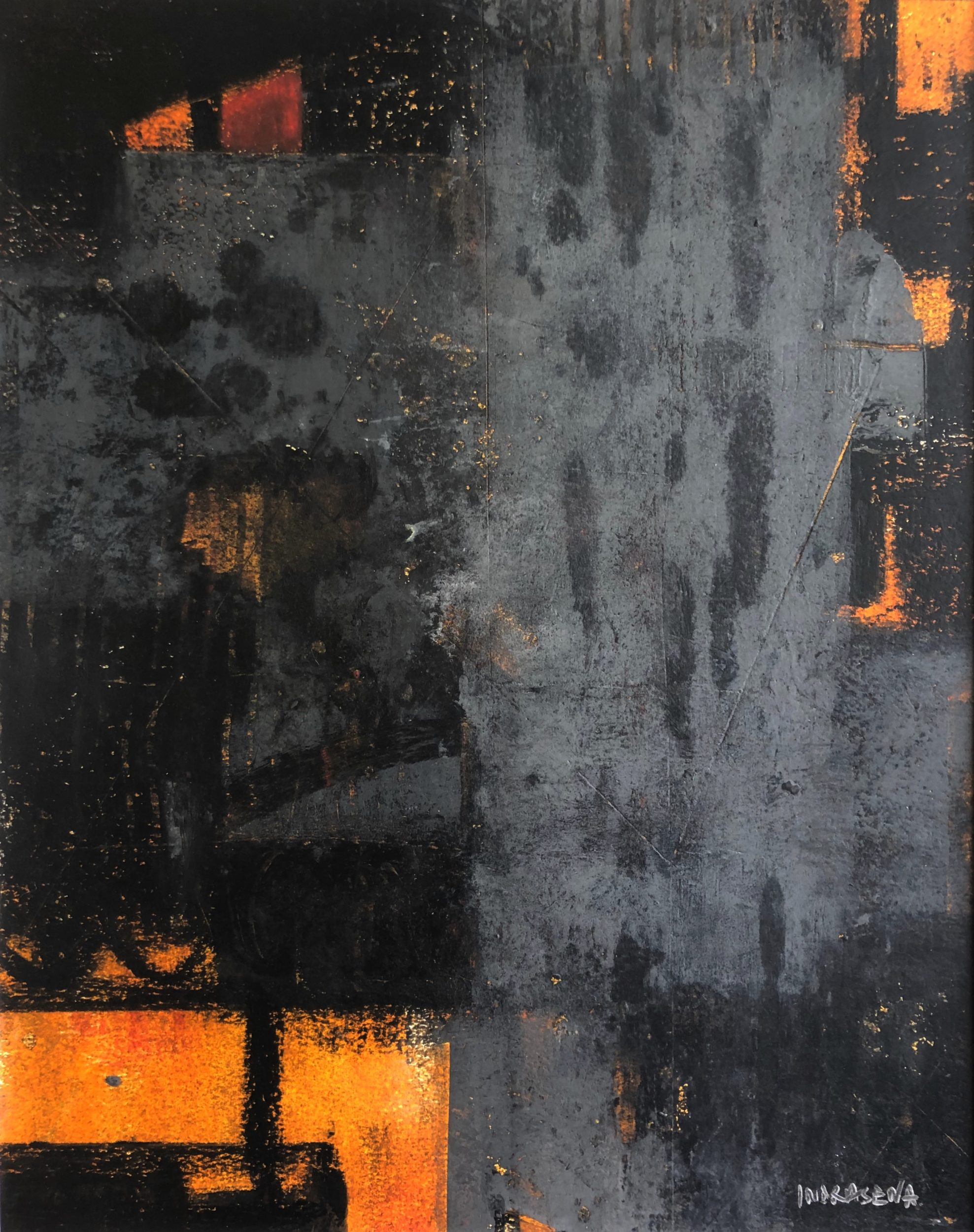Nightfall 40x50 ColdWax & Oil