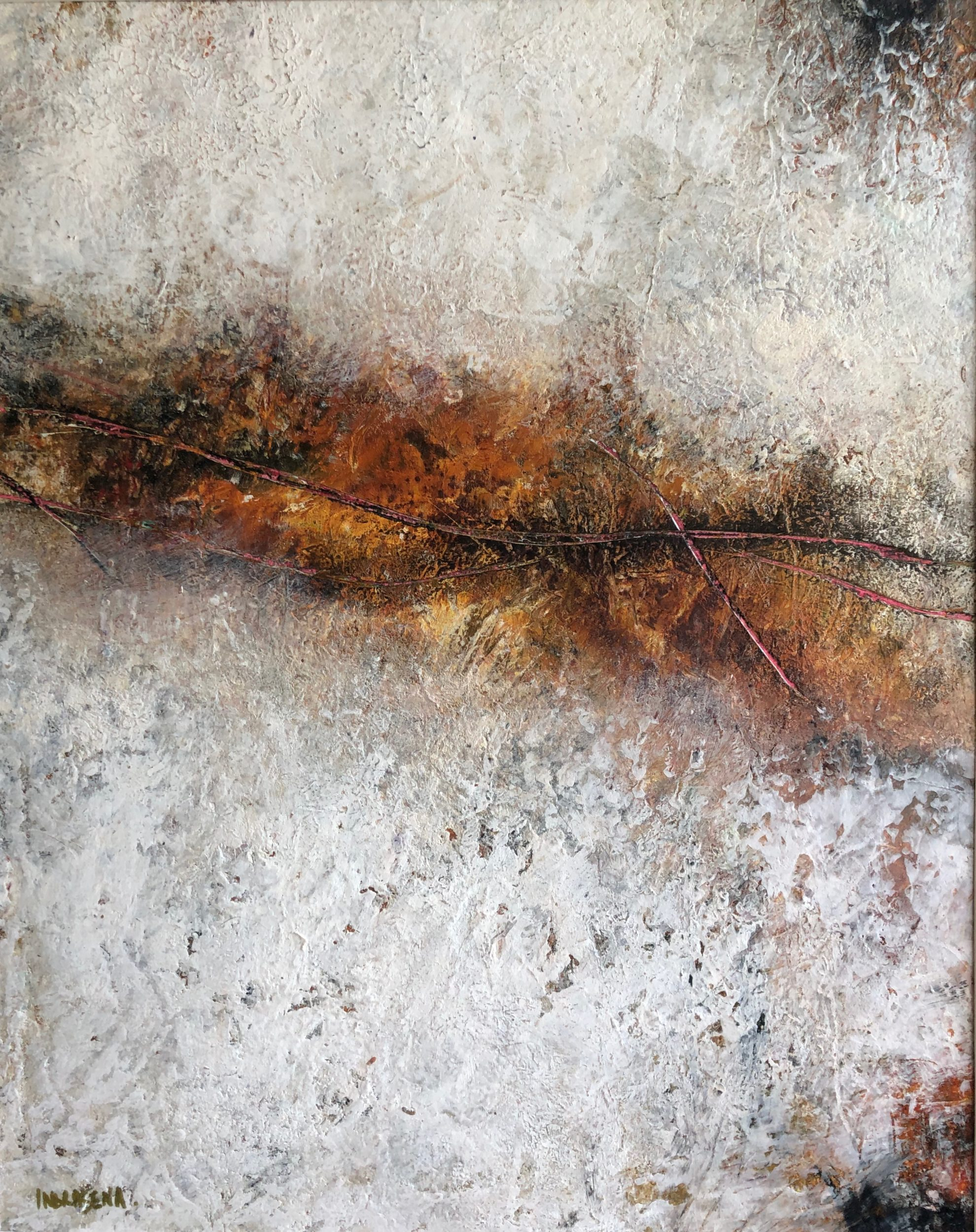 Crack of Enigma 40x50 ColdWax & Oil