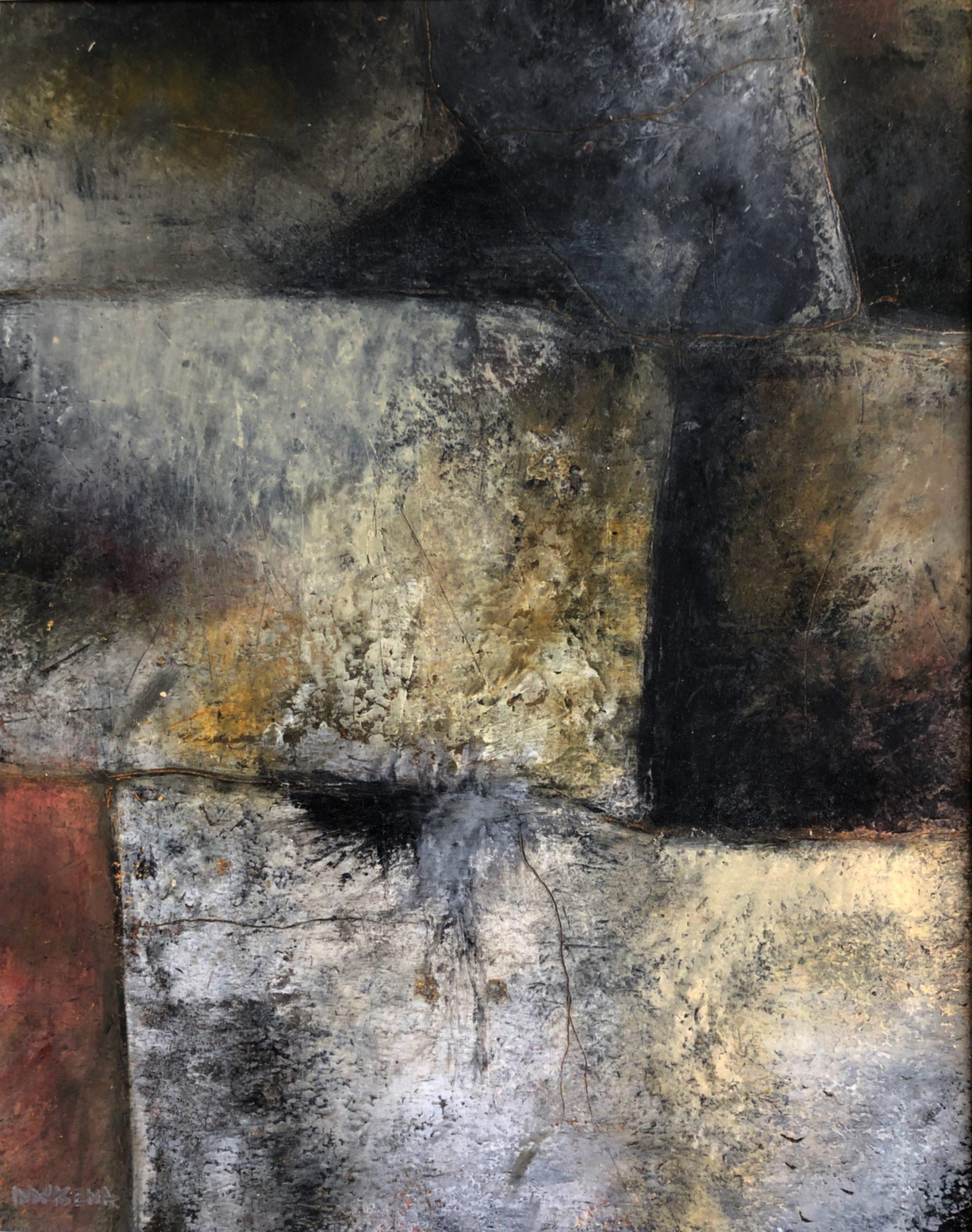 Roman Wall 40x50 ColdWax & Oil