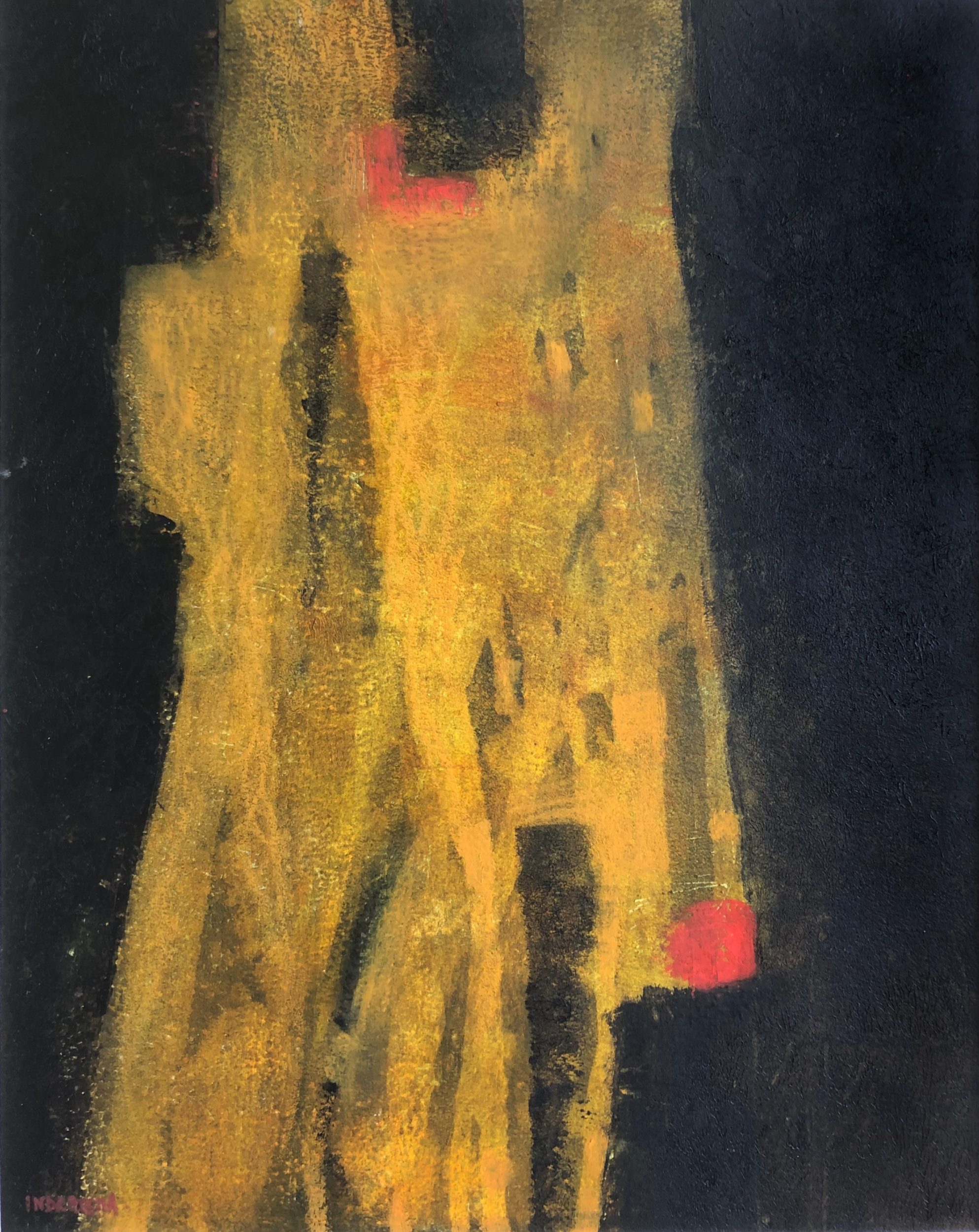 The Phoenician Couple I 40x50 ColdWax & Oil