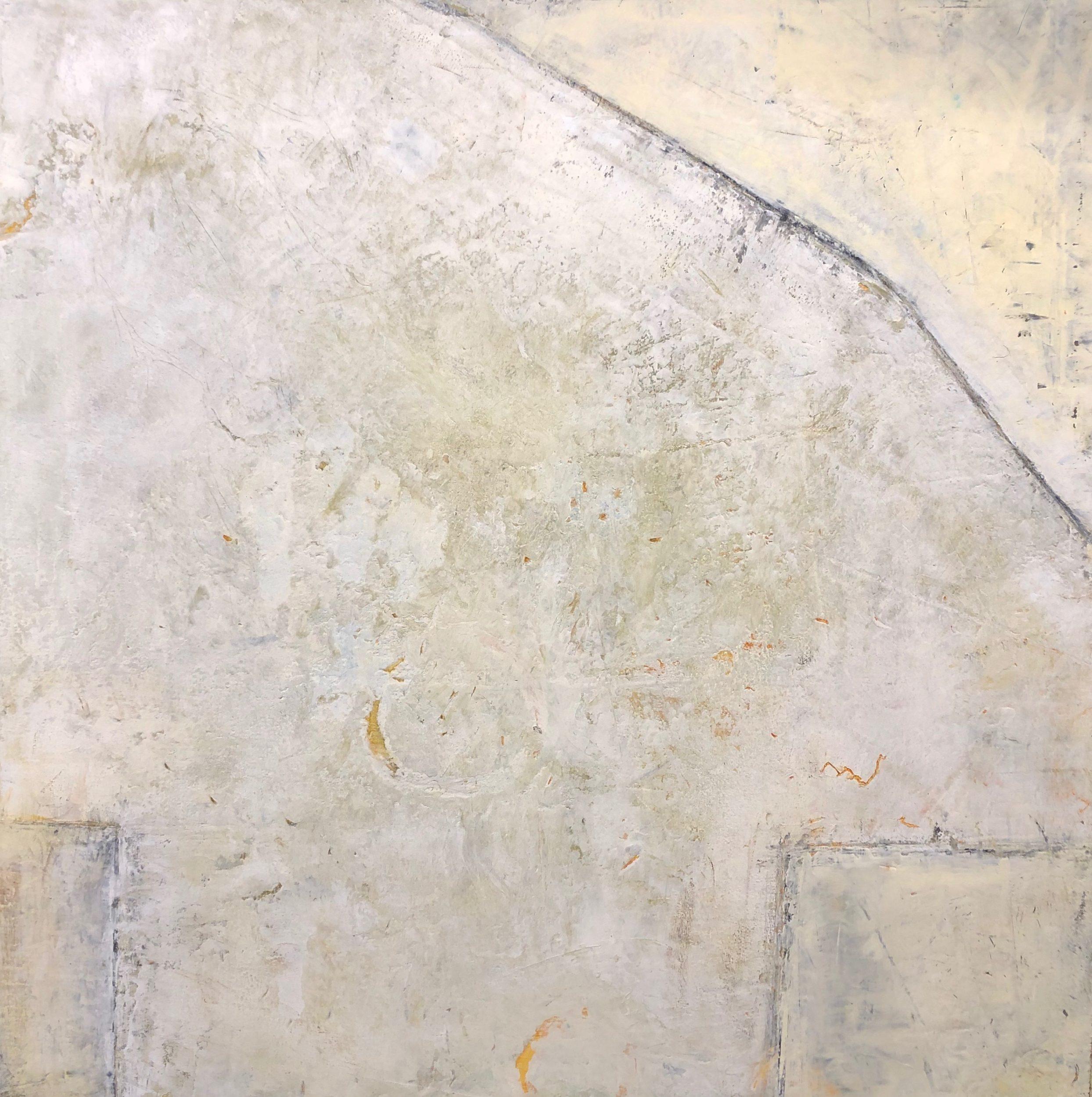 Walls of Nineveh IV 40x40 Cold Wax & Oil on Wood Panels