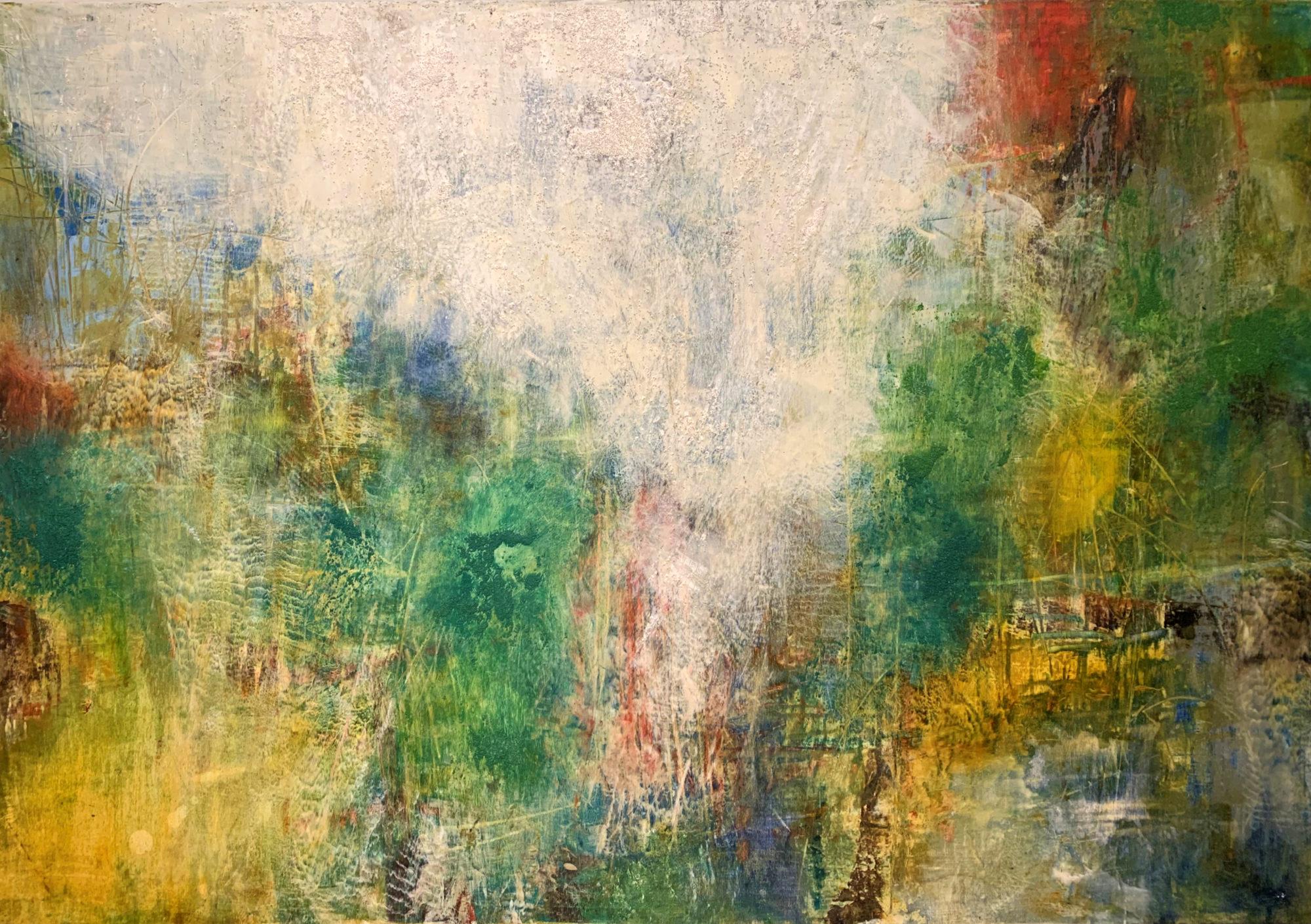 Patina Wall I 70 x 100 oil & cold wax
