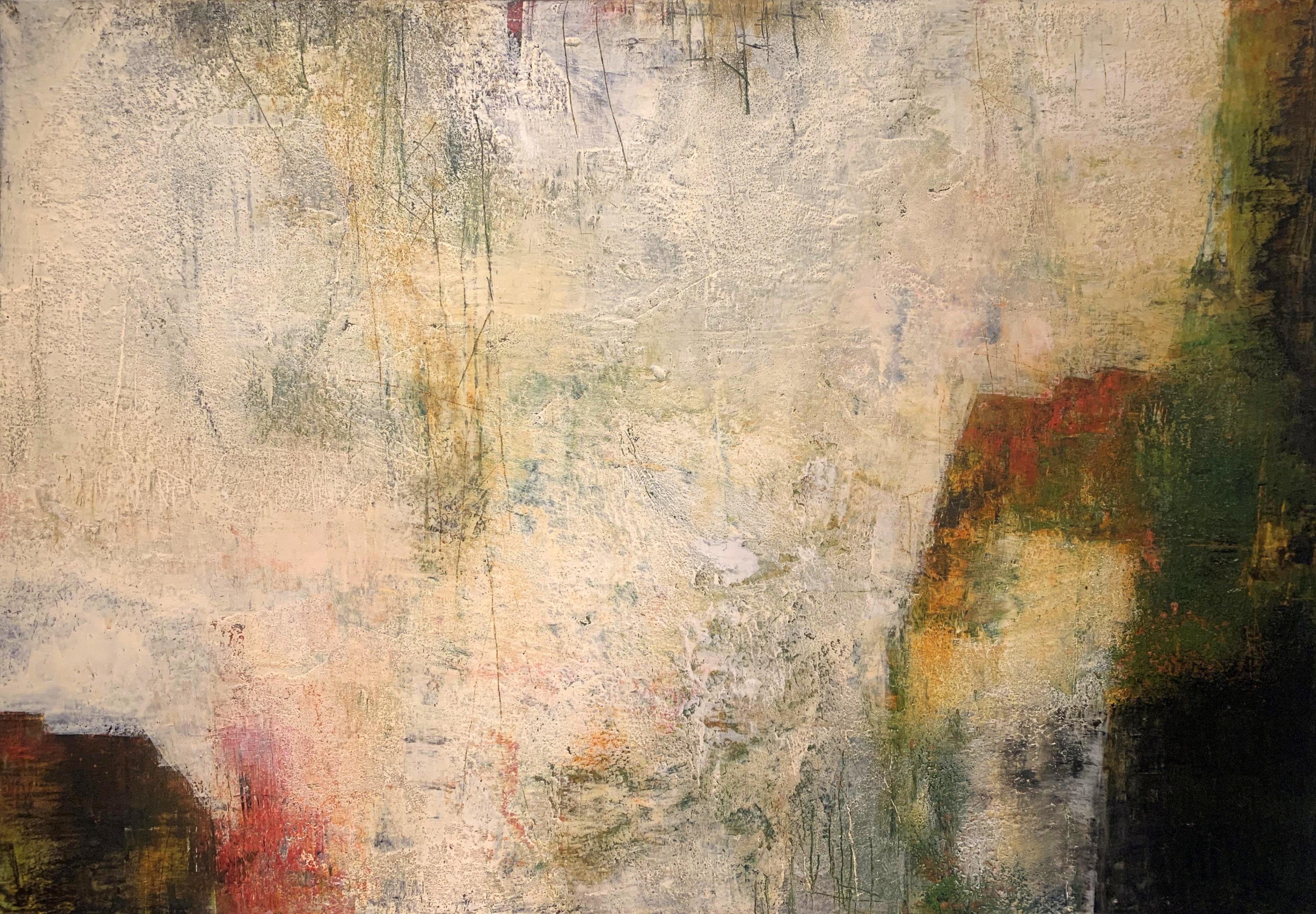 Patina Wall II 70 x 100 oil & cold wax