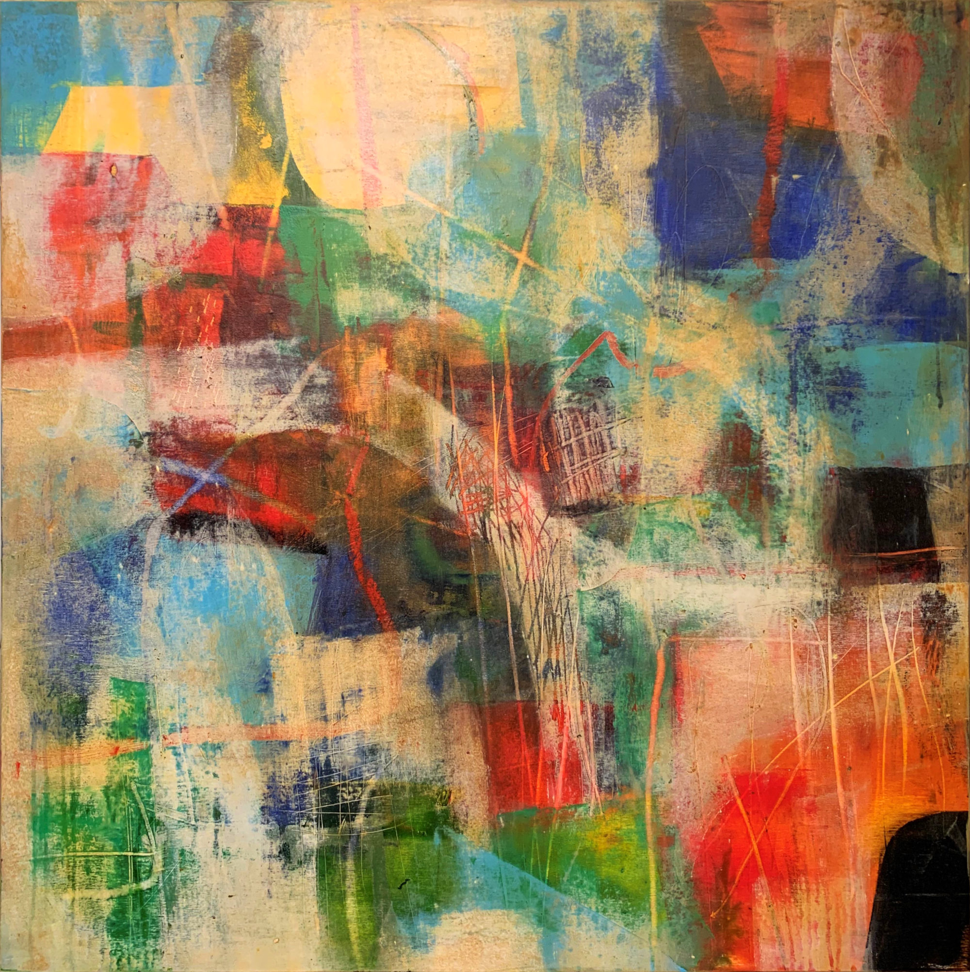 The Ancient Souk I 70 x 70 oil & cold wax