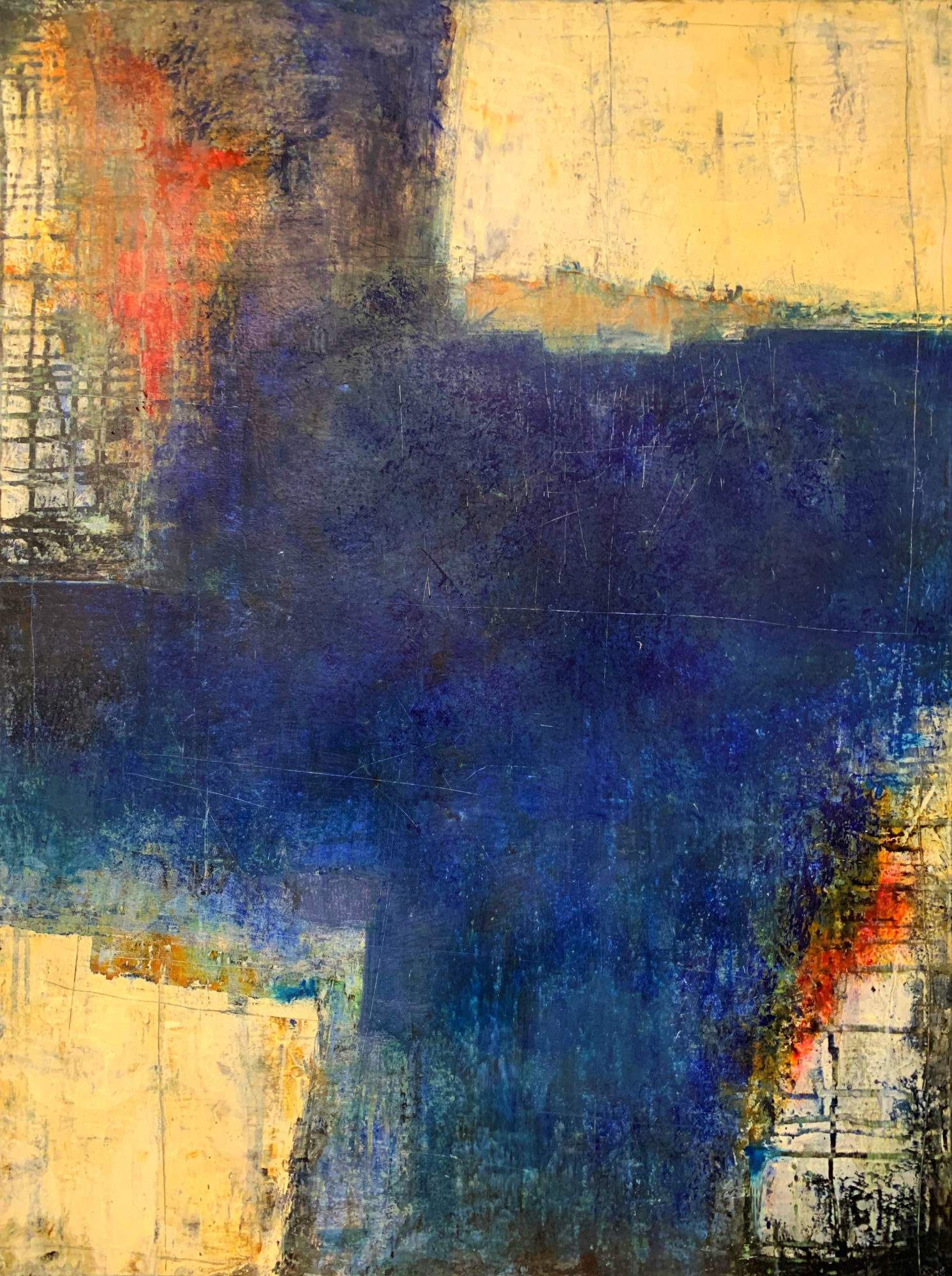 Wall of Hope IV 60 x 80 oil & cold wax