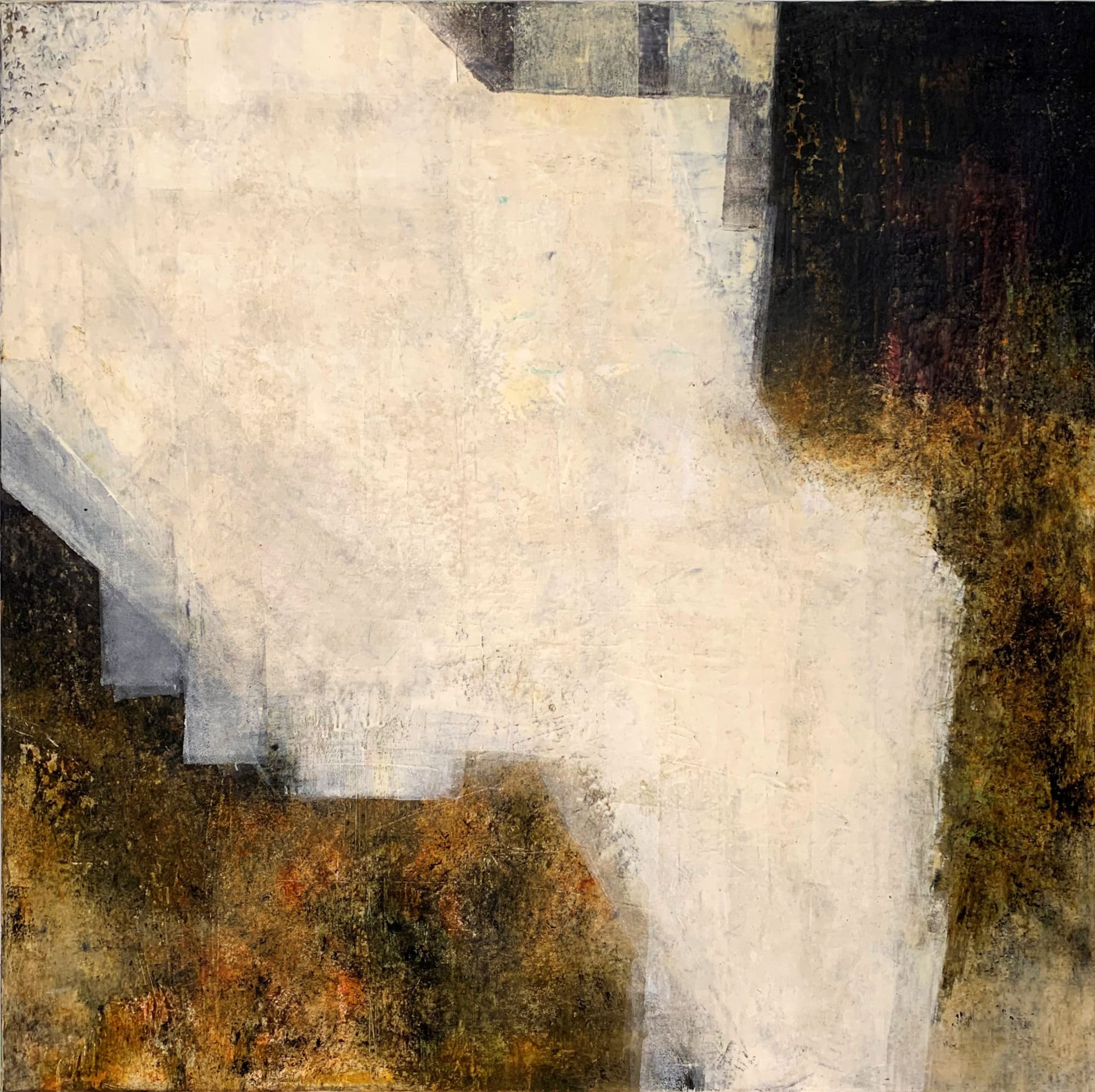 Decay of Nineveh I 70 x 70 oil and cold wax