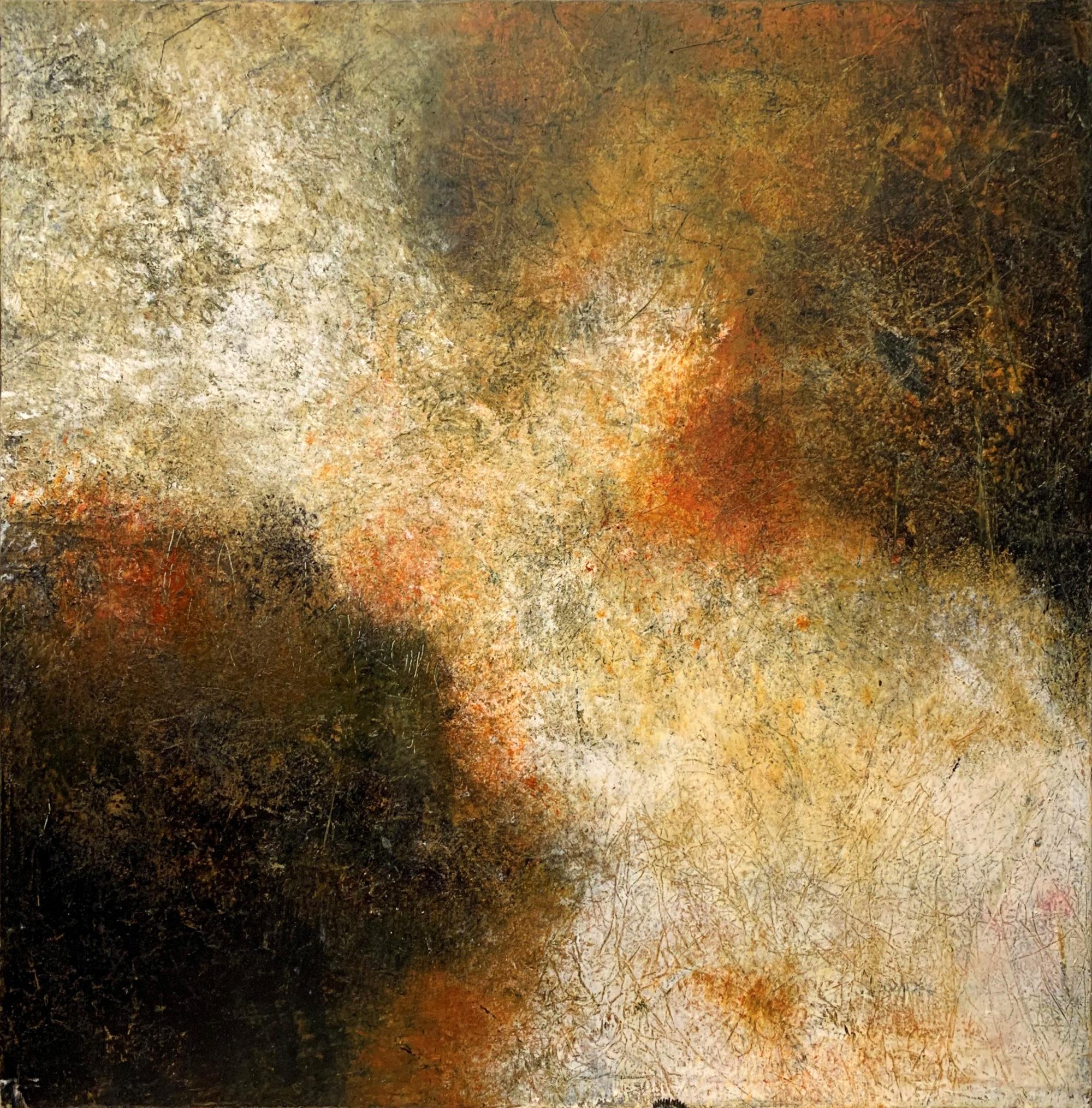 Mystic Musings II 40 x 40 oil & cold wax