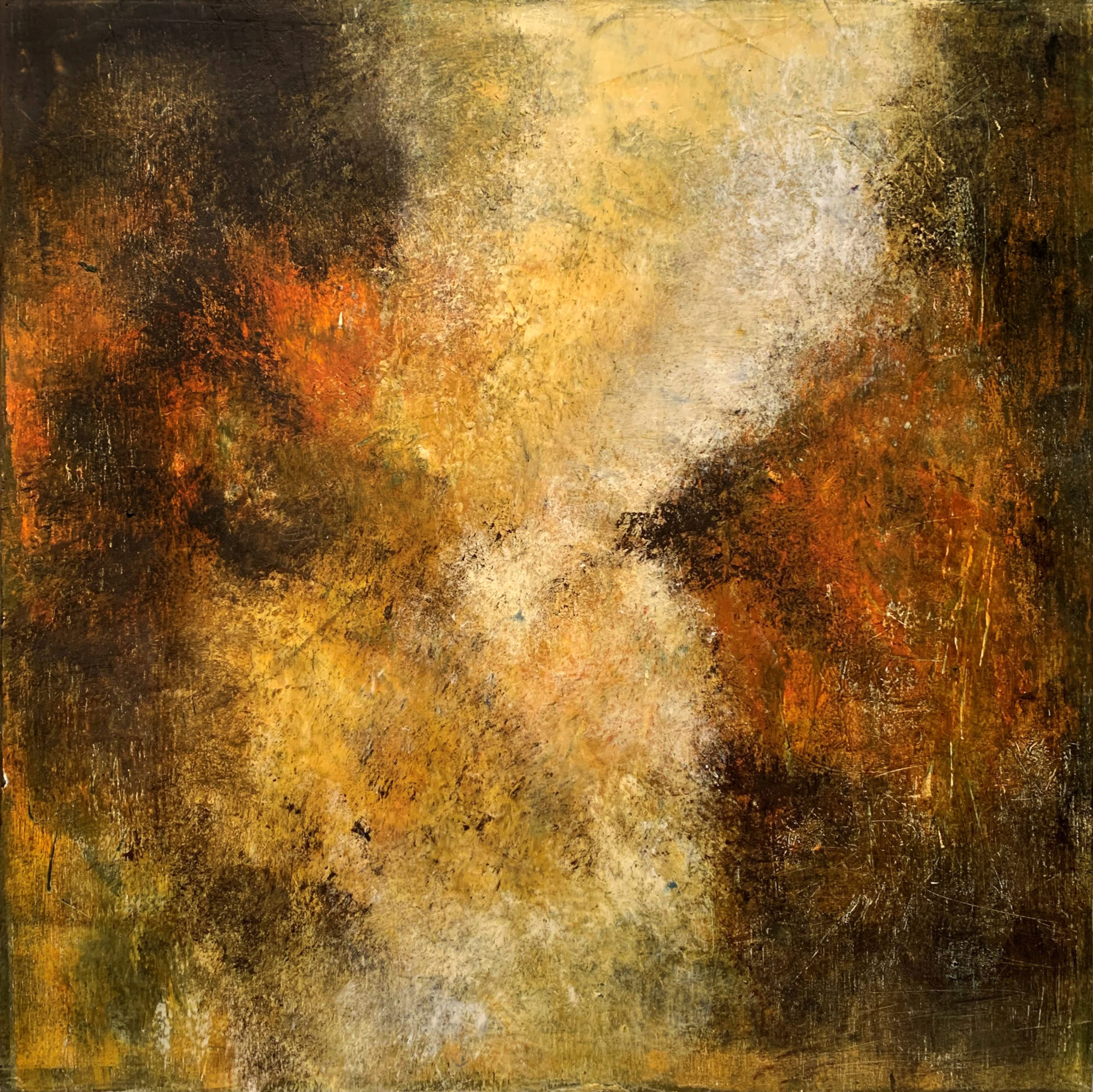 Mystic Musings IV 40 x 40 oil & cold wax