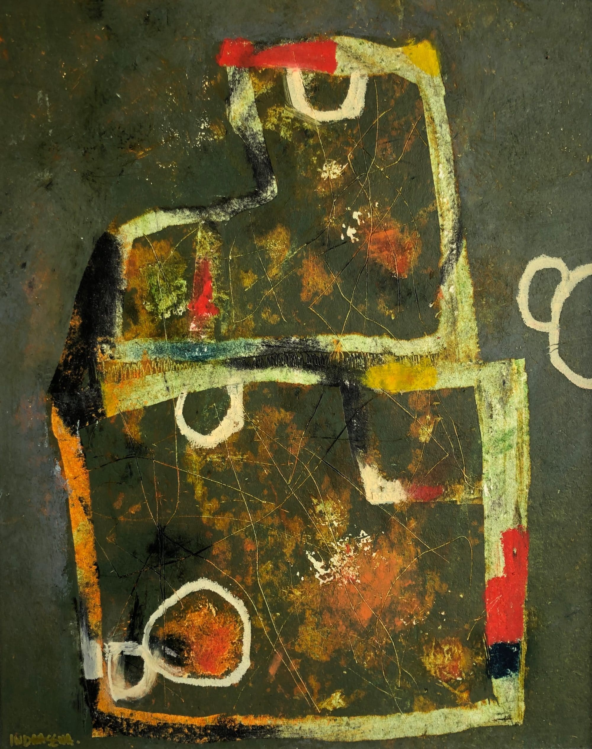 Nabucco 40 x 50 cm Oil and cold wax mixed media