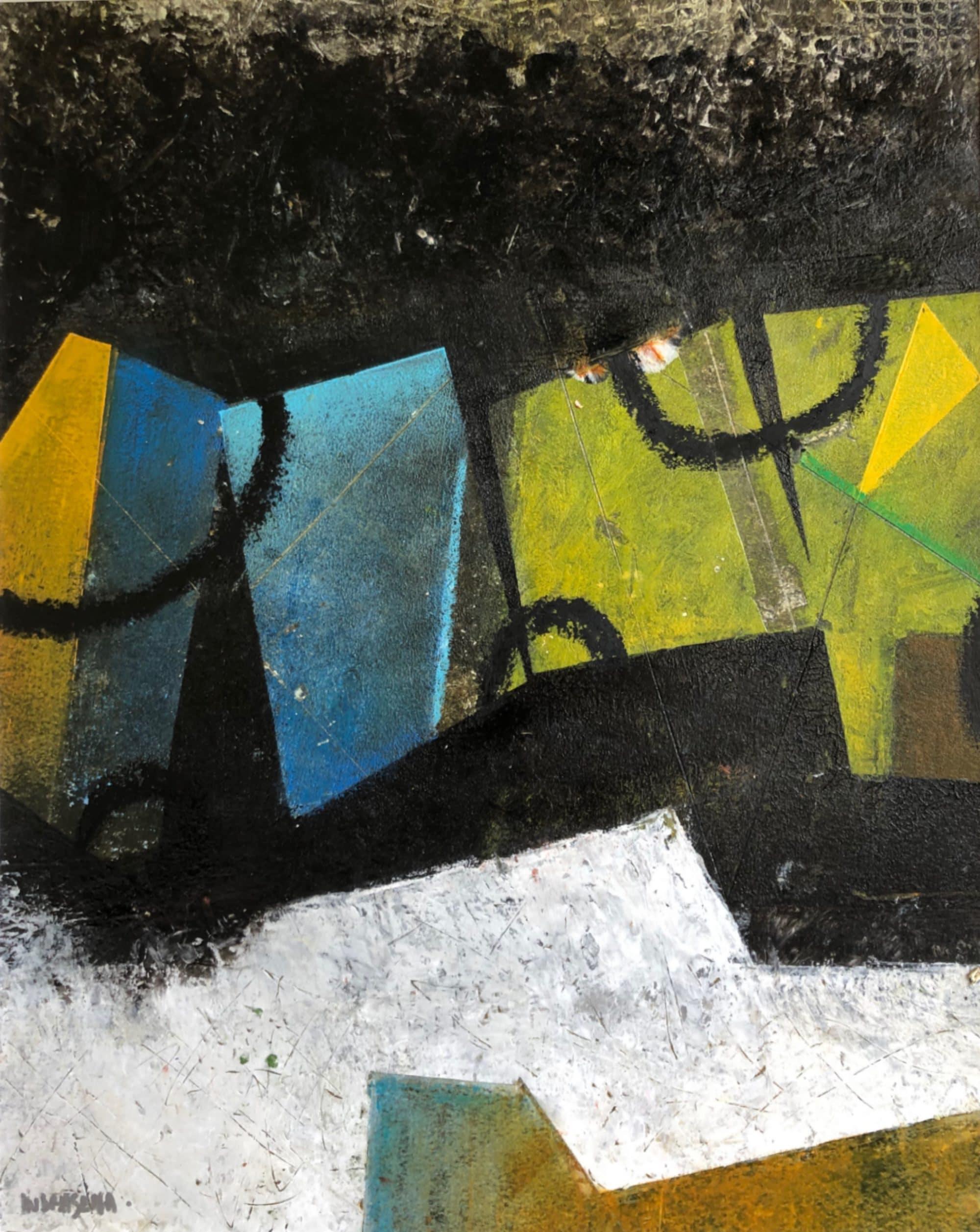 Leonore no. 1 40x50 cm oil and cold wax